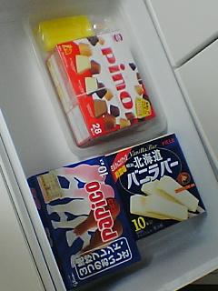 さくらんぼとアイス