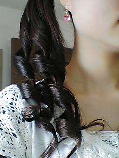 髪の毛巻き巻き