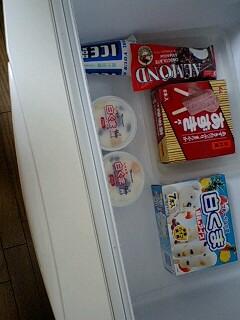 食後のアイスとチョコ
