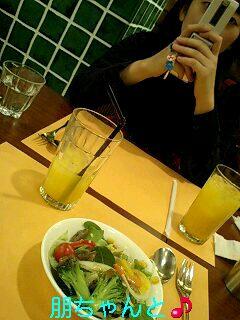 朋ちゃんと食事♪