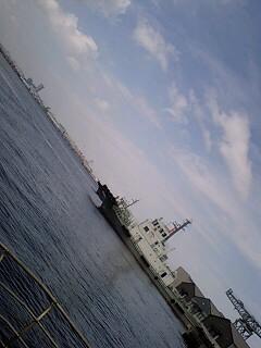 横浜の青空の下で♪