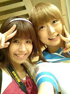 2009.8.14らき☆すた巫女合わせ 苺&望月みうな